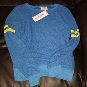 NWT WILDFOX Dream Scene Blue/Yellow Sweatshirt